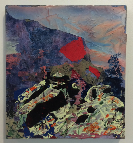 Kimo Nelson,Untitled (#0423),2015,acrylic on linen,10 x 9 inches