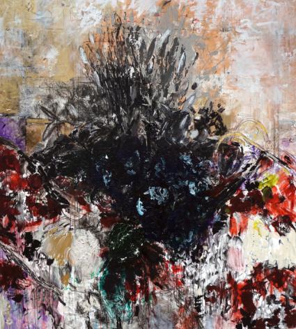 Connie Fox,Sammy's Beach X,2012,acrylic on canvas,80 x 72 inches