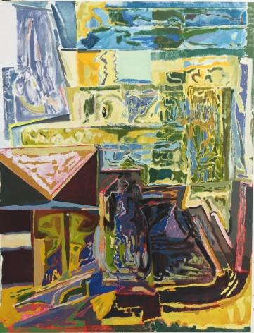 "Daniel Noonan, Towards a awkward understanding, 2015, Oil on linen, 54 x 42"""