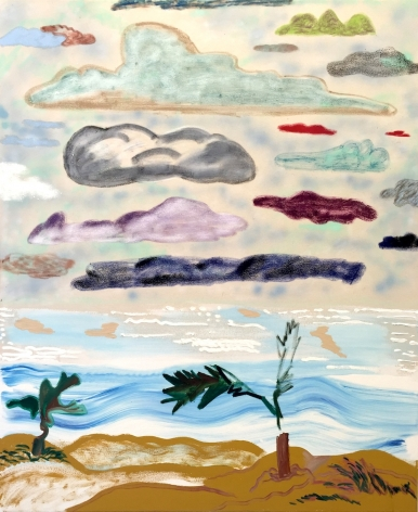 """Shara Hughes, In The Clouds, 2015, Oil and acrylic on canvas, 48 x 40"""""""