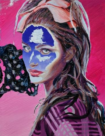 Justin Craun, Pale Blue Mask, 2011