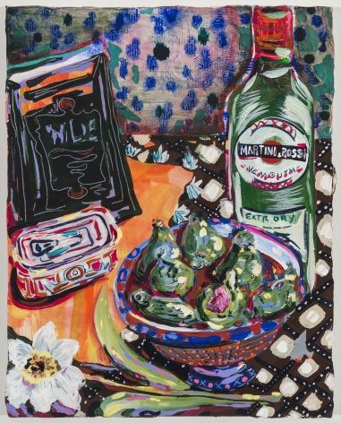 KatePincus-Whitney Naturelza Muerta: Wild's Daffodils and Vermouth, 2020