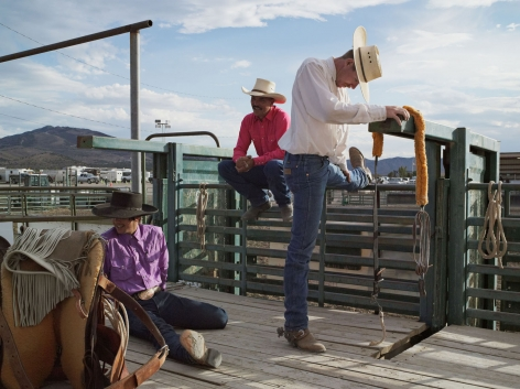 LUCAS FOGLIA, Dakota, Michael, and Jesse, Bronc Riders, Eureka County Fair, Eureka, Nevada, 2012