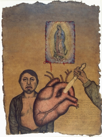 Nahum B. Zenil, Ex Voto (Self Portrait with the Virgin of Guadalupe), 1987