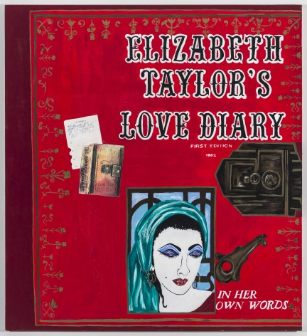 Kathe Burkhart Love Diary: from the Liz Taylor Series (movie magazine cover), 2011