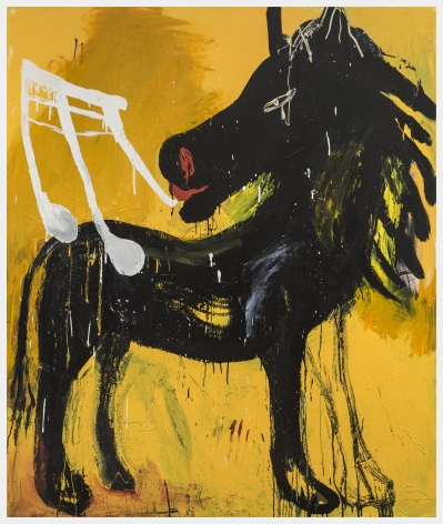 Yellow Horse, 2018, Enamel and acrylic on canvas