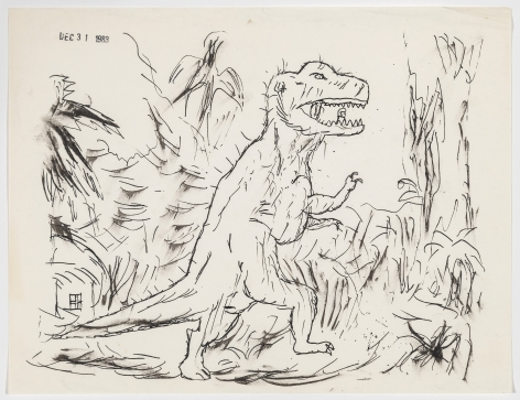 Gary Panter Guy in a Dinosaur Suit, 1983