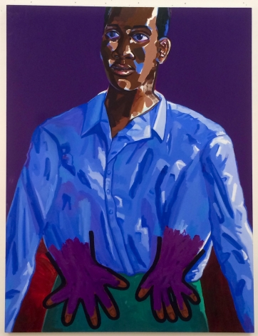 Lamar Peterson, Blue Shirt, 2018