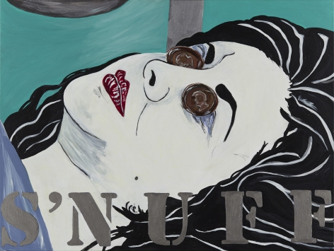 Kathe Burkhart, S'nuff: from the Liz Taylor Series (Ash Wednesday), 2014