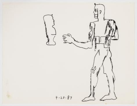GaryPanter, Glyphic Figure, 1987