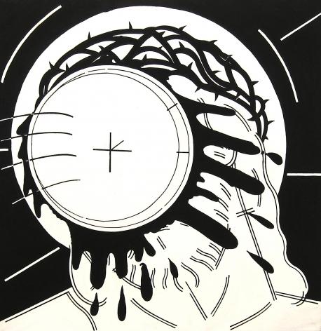 STEVE GIANAKOS, Untitled (Jesus With Pie), 1980