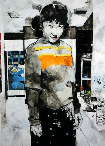 Zak Smith, Jena with Sunkist and Sunkist-colored Shirt, 2000