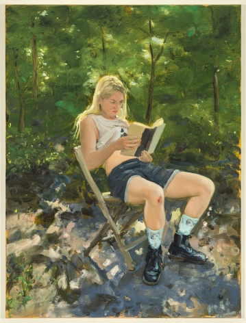 Jenna Gribbon, If a woman reads a book in the forest but no one is there to see it..., 2020