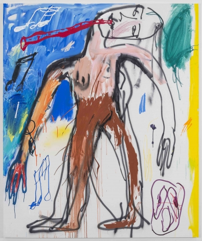 Cristina de MiguelMusic is Math, 2017Acrylic, oil, spray paint, colored pencil and crayon on canvas72 x 60 inches