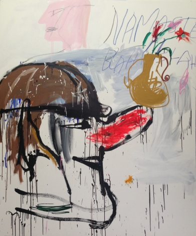 Cristina de MiguelGood Yoga,2017Acrylic and crayon on canvas72 x 60 inches