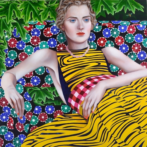 Jocelyn Hobbie, Bee, Yellow, Indigo, 2015