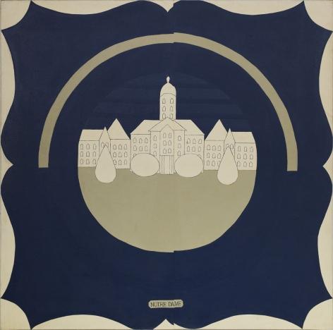 JOHN WESLEY, Untitled (Notre Dame),1962