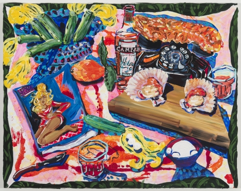 Kate Pincus-Whitney, Feast in the Neon Jungle: Dreams from Cefalu (You can call me on my shell phone), 2020