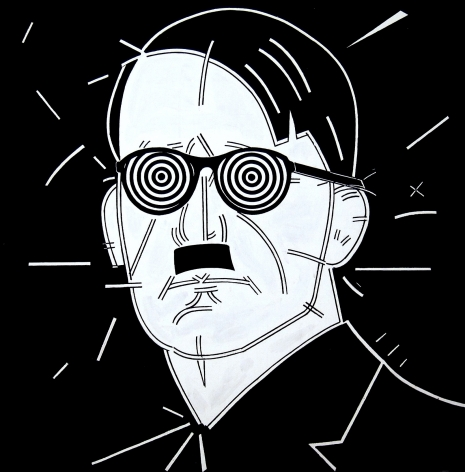 STEVE GIANAKOS, Untitled (Hitler With Glasses), 1980