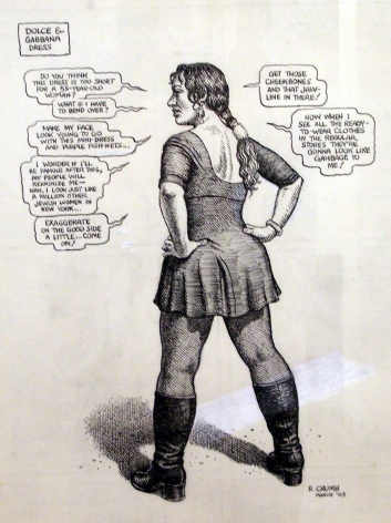 R. Crumb, Untitled (New York Times Series, Dolce & Gabanna), 2003