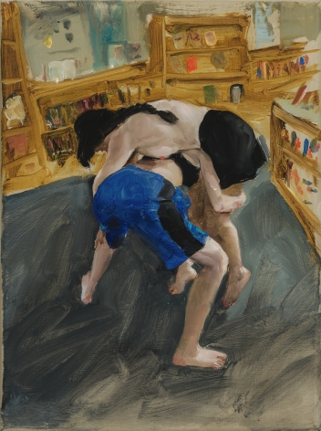 Jenna Gribbon, School library wrestlers, 2019