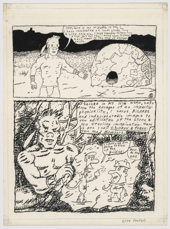 Gary Panter Jimbo is Running Sore, Page 2, 1981