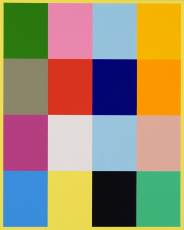 Cary Smith ColorBlocks#1 (with yellow border), 2017