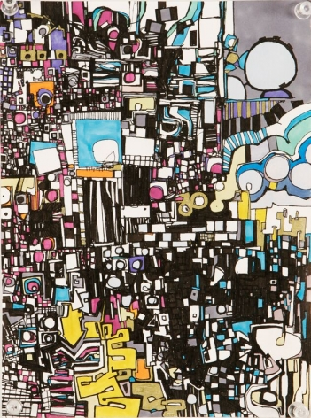Zak Smith, Abstract Drawing With Color, 2005