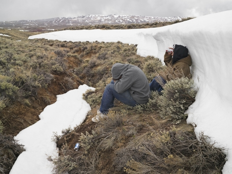 LUCAS FOGLIA, Greg and Zane after Horn Hunting, Farson, Wyoming, 2011