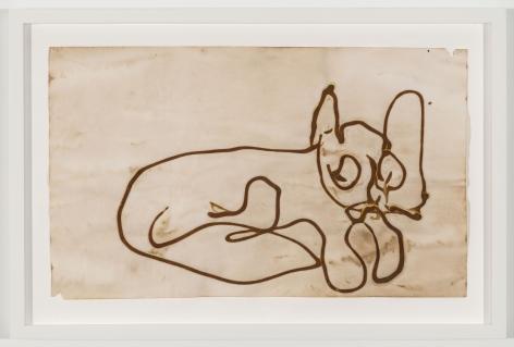 BRIAN BELOTT, Mustard Drawing (Cat),2015