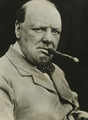 Artist Unknown, Winston Churchill With Cigar, 1929