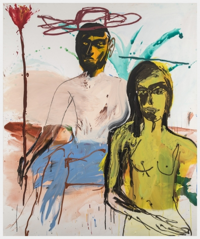 CoupleinMay, 2019 Acrylic and oil stick on canvas