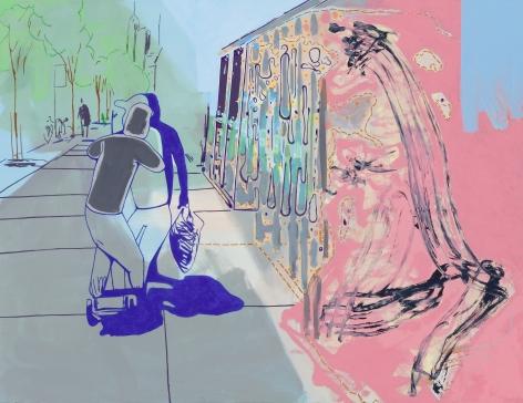 David Humphrey, Sidewalk, 2014