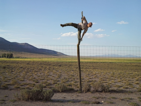 Lucas Foglia, Tommy Trying to Shoot Coyotes, Big Springs Ranch, Oasis, Nevada, 2012