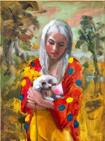 Jenna Gribbon, When She Held June, I Saw Her Like an Old Painting, 2019