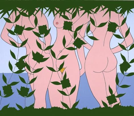 JOHN WESLEY, Seascape with Frieze of Girls,1985