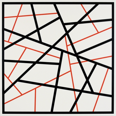 CARY SMITH, Straight Lines #14 (black - red), 2015