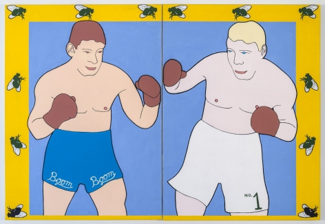 JOHN WESLEY Untitled (Boom Boom), c. 1972