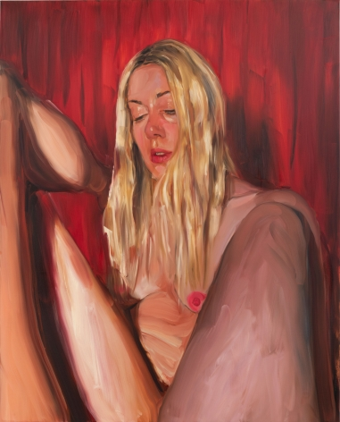 Jenna Gribbon, Red curtain stagescape, 2021