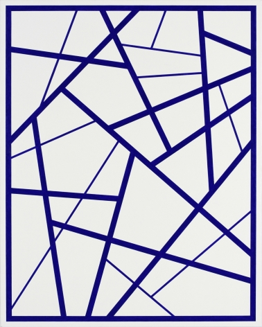 CARY SMITH, Straight Lines #5 (dark blue), 2015