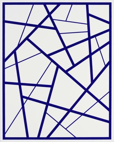 CARY SMITH, Straight Lines #5 (dark blue),2015