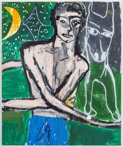 Cristina de MiguelIncredible Shoulders, 2017Acrylic, oil, spray paint and collage on paper72 x 60 inches