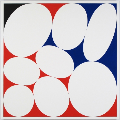 CARY SMITH, Ovals #21 (red-blue-black), 2015