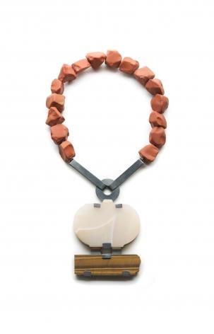 Ute Eitzenhöfer, necklace, stone, silver, German, Contemporary Jewelry