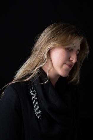Rebekah Frank Steel necklace, queer jewelry artist