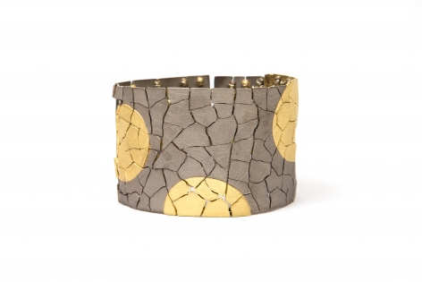 John Iversen, gold, crackle, bracelet