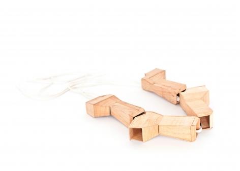 Sara Borgegard, necklace, wood, art jewelry