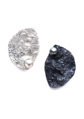Emanuela Duca, Jewelry, silver, gold, pearl, sand, magma, Terra