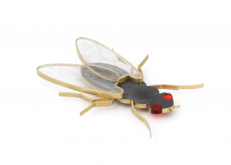 Philip Sajet, Dutch, brooch, fly, Contemporary Jewelry