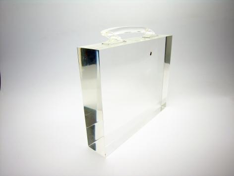 Ted Noten, Dutch design, acrylic handbag, sculpture, drawer